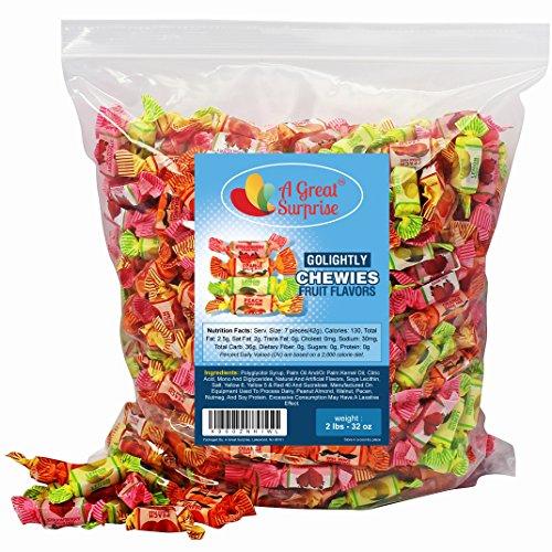 GoLightly Sugar Free Fruit Chews - Go Lightly Sugar Free Candy, 2 LB Bulk Candy]()