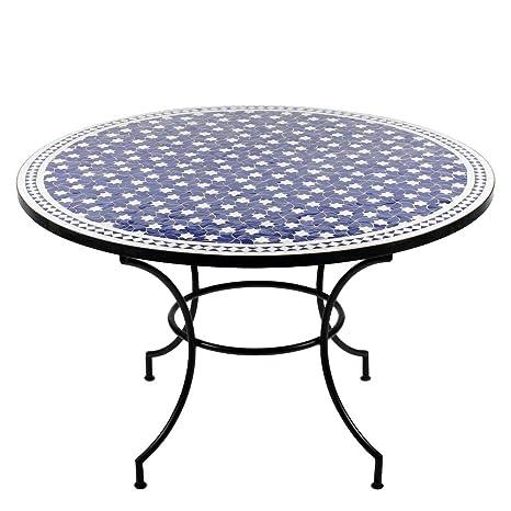 Tavolo Da Giardino Rotondo.Tavolo In Mosaico Marocchino O 120 Cm Tavolo Rotondo Da Giardino