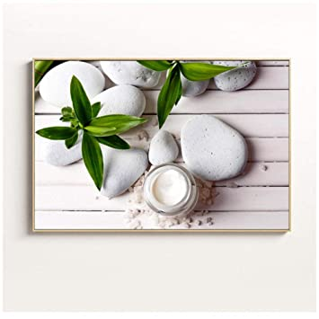 Lámina de pared Spa Piedras Zen Pintura Velas Orquídea Flor ...