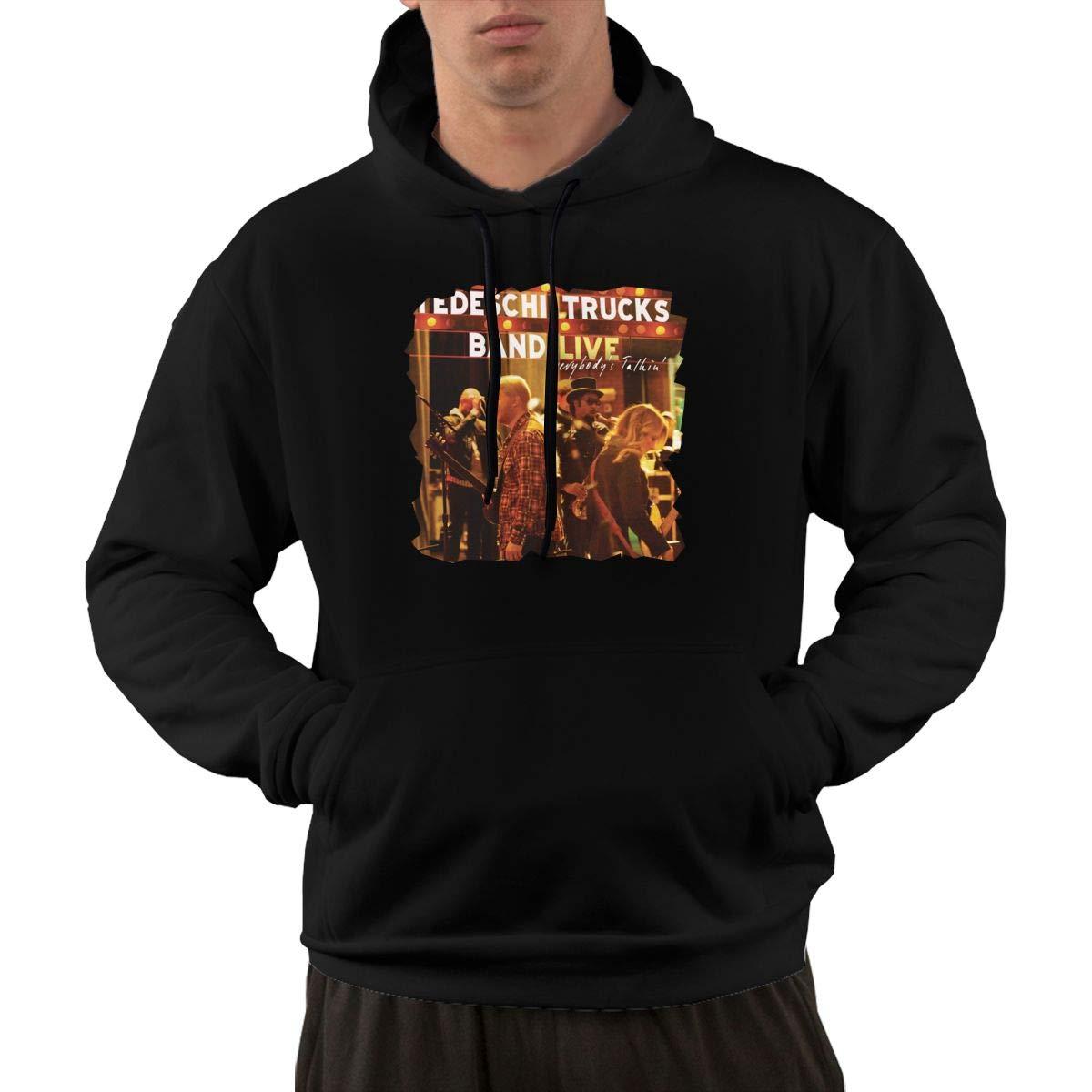AlbertV Mens Tedeschi Trucks Everybodys Talkin Hoodies Sweatshirt Pocket Black