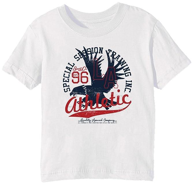 db062a82caf57 96 La Athletic Niños Unisexo Niño Niña Camiseta Cuello Redondo Blanco Manga  Corta Todos Los Tamaños Kids Unisex Boys Girls T-Shirt White All Sizes  ...