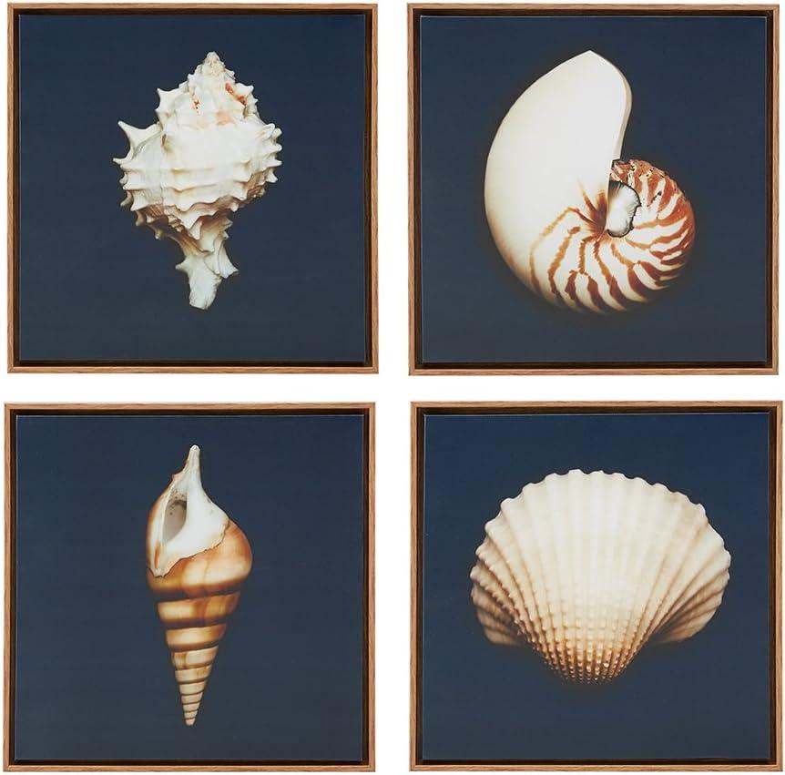 Ocean Seashells 4 Piece Set Wall Art