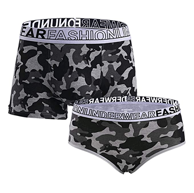 Image Unavailable. Image not available for. Color  JIEYA 2-Pack Cotton  Underwear Couple Lovers Underwear Camouflage His   Hers Briefs Tanga f33229ca0