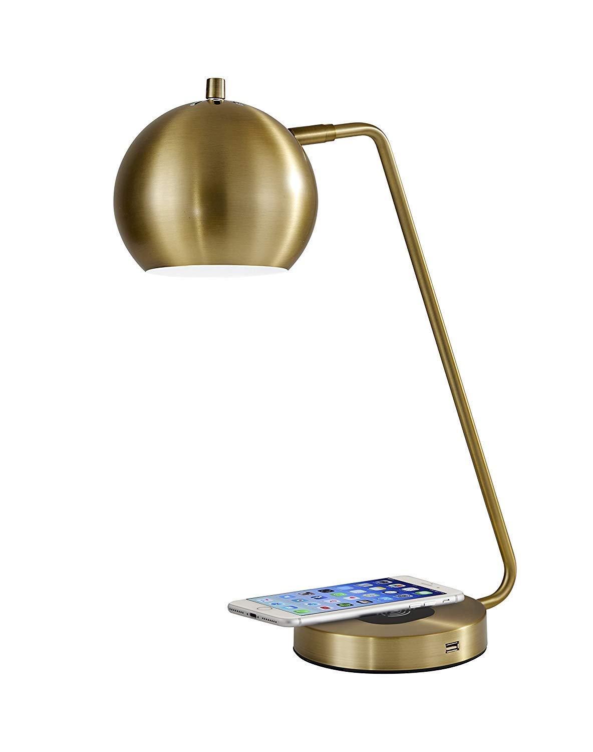 Adesso 5131-21 Emerson Desk Lamp WirelessCharging, 7W LED, 5W QI,USB Port, Indoor Lighting Lamps by Adesso