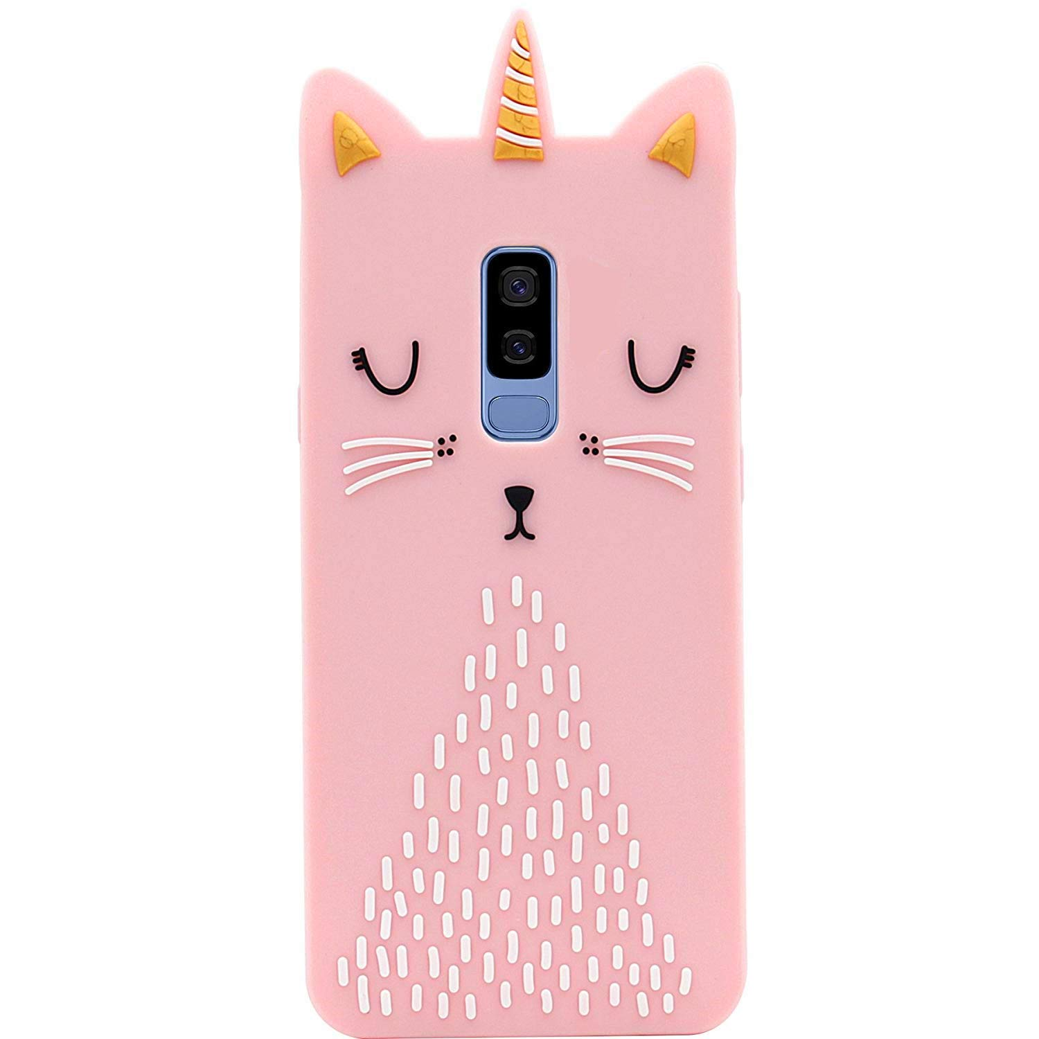 Cat Unicorn Case for LG K20 V,LG K20 Plus,LG Harmony Silicone 3D Cartoon Design Animal Pink Cover,Kids Girls Teens Cool Cute Cases,Kawaii Soft Character Funny Protector for LG K10 2017