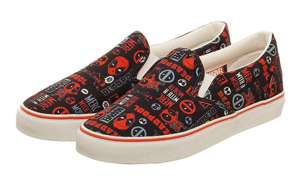 332f80dca02bc Amazon.com   Marvel Deadpool Faces Black/Red Unisex DEK Shoes   Fashion  Sneakers