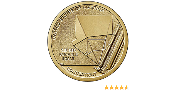 2020 P American Innovation Gerber Variable Scale CT One Dollars U.S Mint Coin