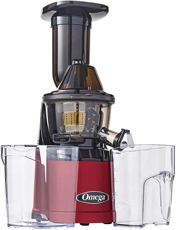 Omega mmv702r extractor de jugos vertical rojo 240 W: Amazon.es: Hogar