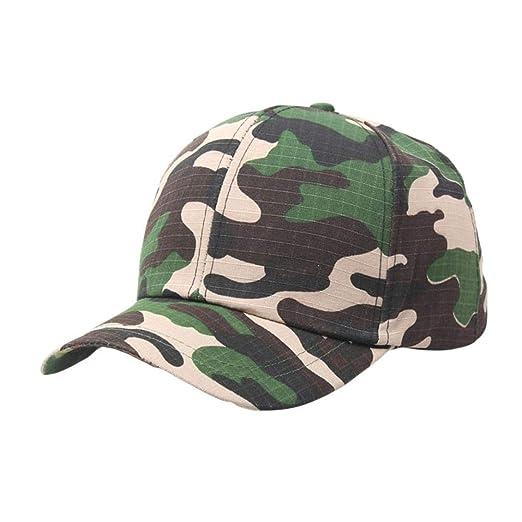 URIBAKE AdjustableOutdoor Camo Tactical Cap Plain Vintage Army ... 6fe55d82afa4