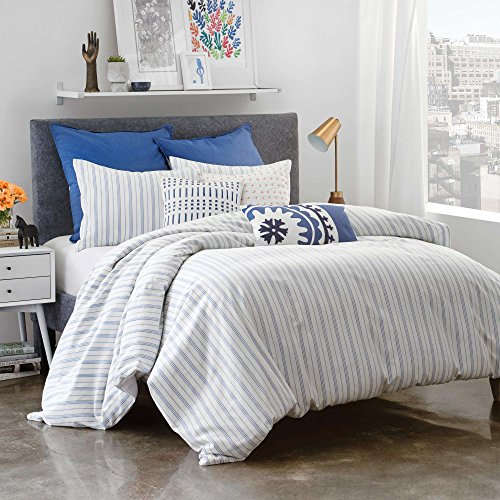 amalfi cotton stripe queen duvet