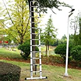 Ohuhu 15.5 FT Telescoping Ladder with Stabilizer