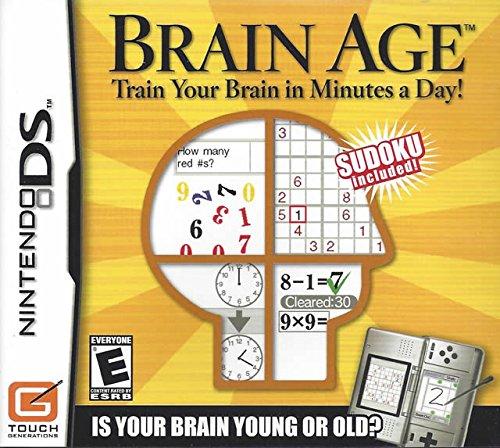 Brain Age Train Minutes nintendo ds