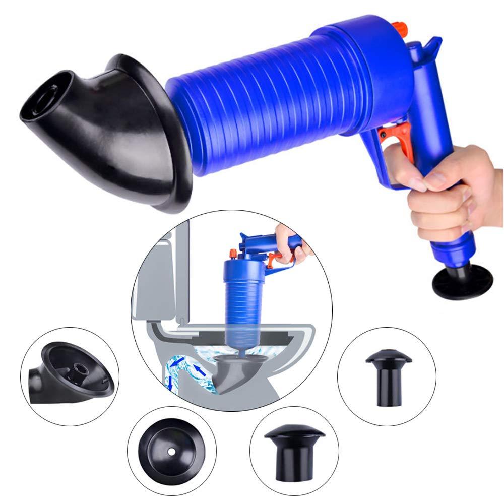 TTAototech Dispositivo de mano Potente Pistola de /émbolo Pistola de presi/ón de aire port/átil Limpiador de tuber/ía Herramienta para ba/ño de cocina