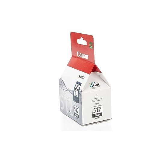 Canon PG-512 Cartucho de tinta original Negro (15 ml) para Impresora de Inyeccion de tinta Pixma MX320,330,340,350,360,410,420-MP230,240,250,252,260,2...