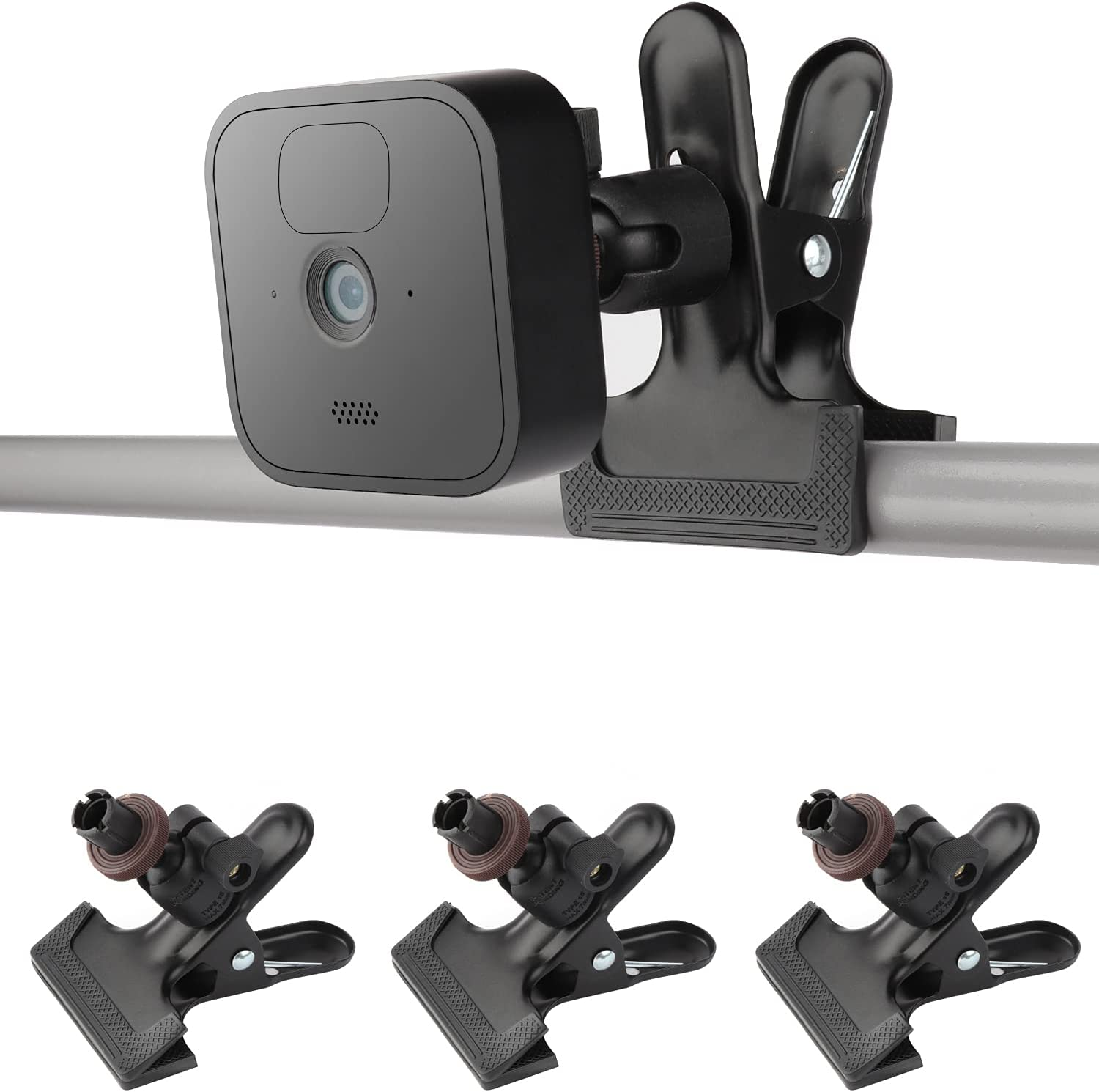 iTODOS 3 Pack Clip Clamp Mount for Blink XT,Blink XT2,Blink Mini,All-New Blink Outdoor, Metal Desk Clip Clamp Holder, Attach Your Blink Home Security Camera Wherever You Like Without Any Tools