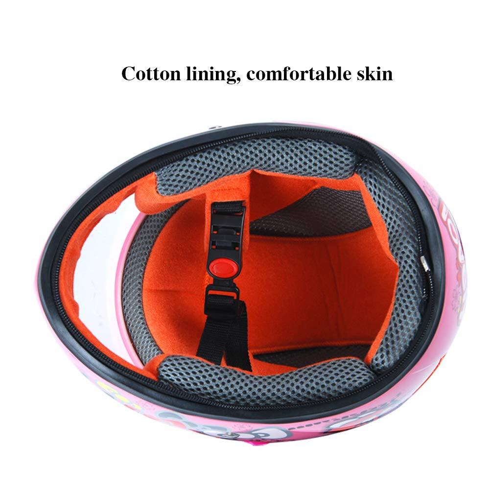con Cobertura Completa LIANGLIANG c/álido Casco Ajustable para ni/ños Resistente al Viento