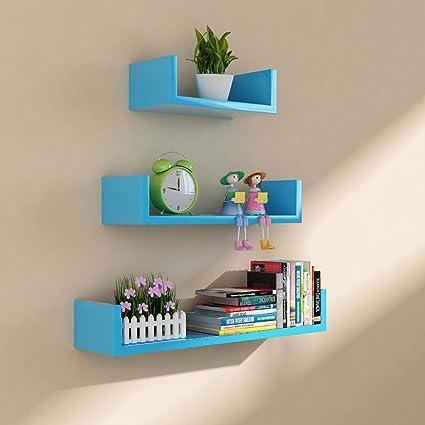 Amazon.com: LTJTVFXQ-shelf Wall Shelf TV Background Wall Decoration ...