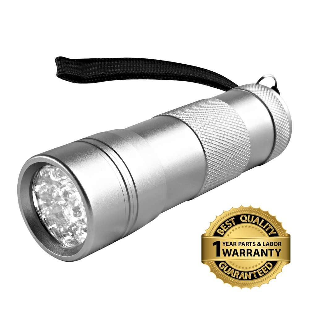 Goliath Industry UV Handheld 12 LED Black Light Flashlight - For Home & Hotel Inspection, Pet Urine & Stain Detection - Spots Counterfeit Money, Dangerous Leaks - Ideal For Scorpion Hunting