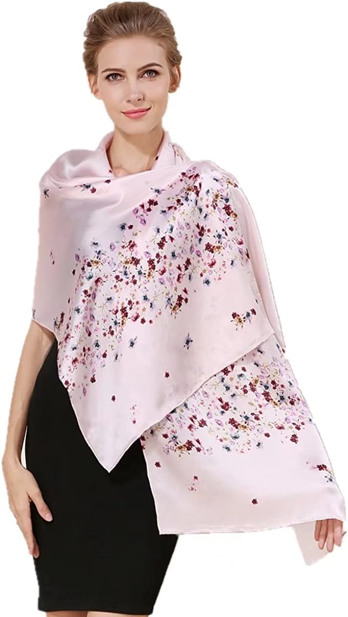 TOP RATED WOMEN'S 100% MULBERRY SILK LONG SCARF! (MORE DESIGNS AVAIL)