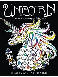 Unicorn Coloring Books For Girls Featuring Various Designs Filled With Stress Relieving Patterns