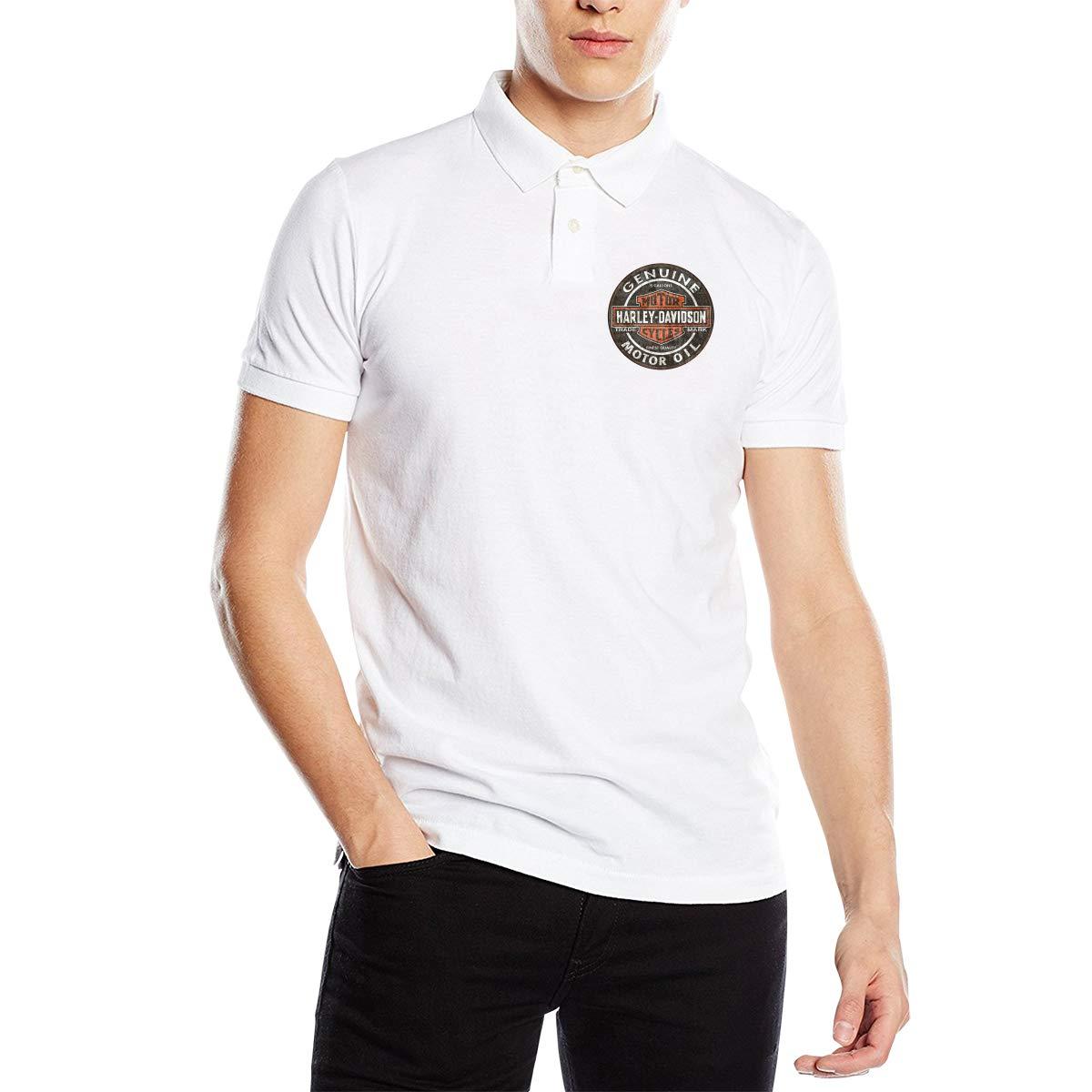 HUALA New Designed T Shirt Harley Davidson Fashion Polo Shirt O-Neck for Men Black