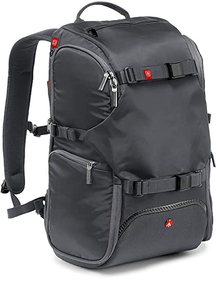 c09f0f3e6f Amazon.com   Manfrotto MB MA-TRV-GY Advanced Travel Backpack (Grey)    Camera   Photo