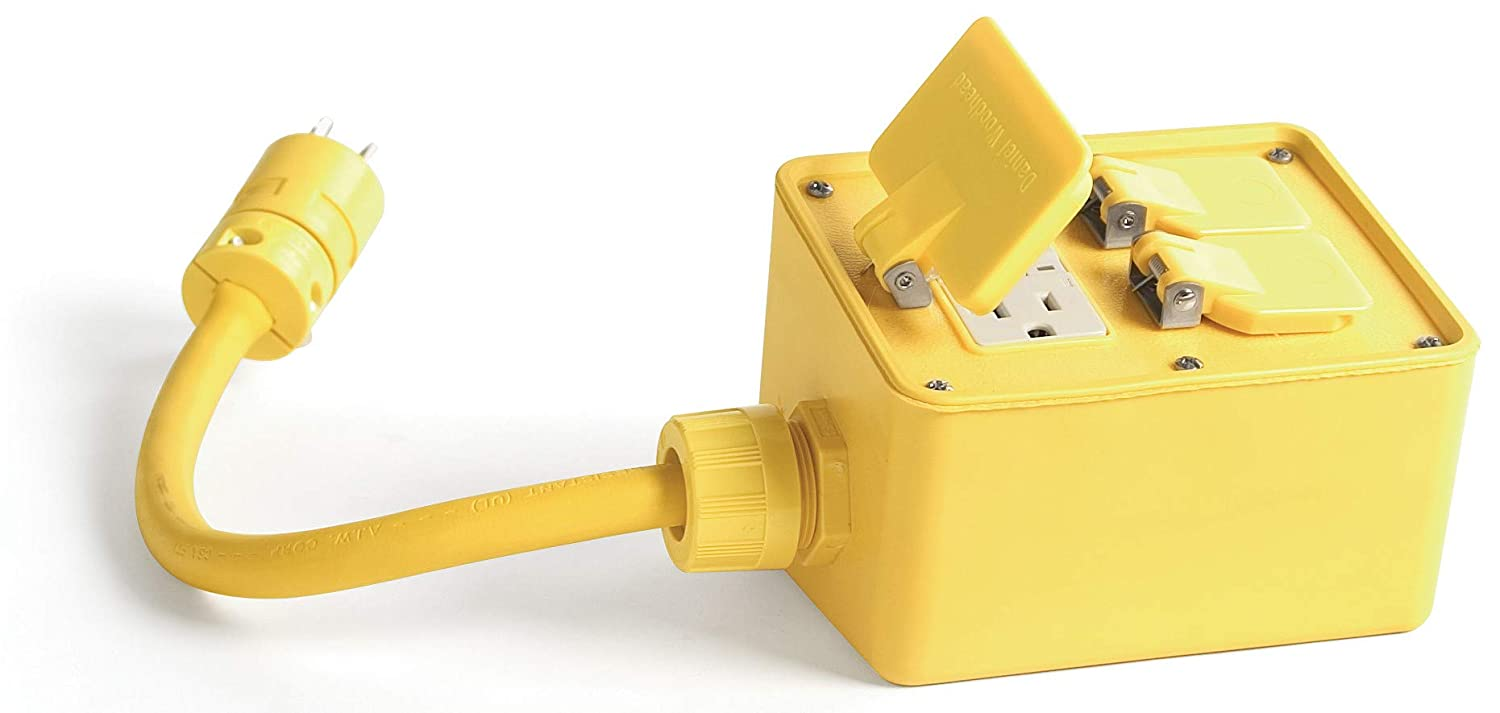 Outstanding Challenge the lowest price Woodhead 3320A123 Super-Safeway Angled GFCI Outlet Box Yellow -