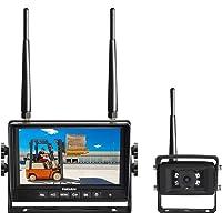 Haloview MC7101 Digital Wireless Backup Camera System Kit 7'' LCD Reversing Monitor and IP69K Waterproof Rear View…