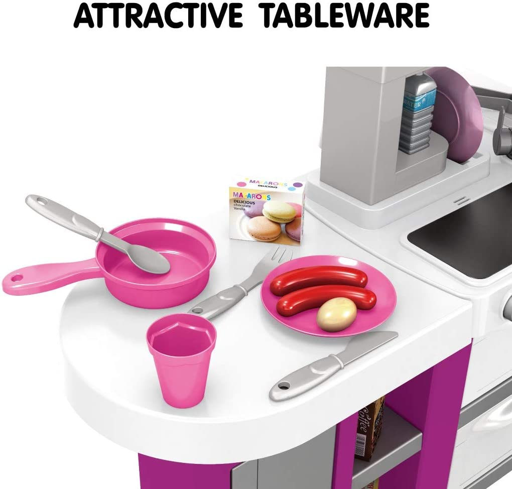 24x13x28.5 inches, Pink Tweippy Kitchen Toy Set Early Childhood Cognitive Toys Play House Play Childrens Fun Play House Dining Table
