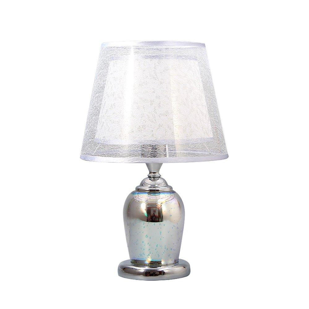 Silber 3D Tischlampe Schlafzimmer Nachttischlampe Wohnzimmer Tischlampe (E27 + LED) A++ (Farbe   Gold)
