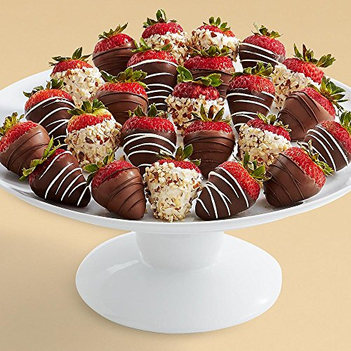 Shari's Berries - Two Full Dozen Hand-Dipped Sugar Free Strawberries - 24 Count - Gourmet Baked Good Gifts (Non Perishable Gift Baskets)