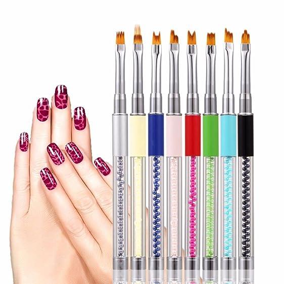 Amazon.com: Dotting 8 Pcs Marbleizing Dotting Pen Set for Nail Art ...