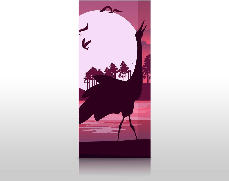 wandmotiv24 Cubierta Trasera de Ducha Vista romántica con Siluetas de garzas 90 x 200 cm (W x H) - 4mm plexiglás Diseño de Pared de Ducha, sin Juntas. M0999: Amazon.es: Hogar