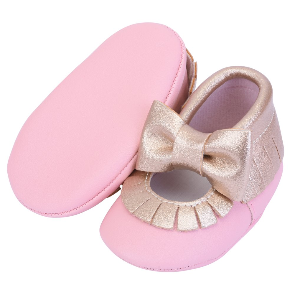 Cheeyi Toddler Infant Baby Boy Girls Tassel Soft Sole Leather Crib Shoes Loafers