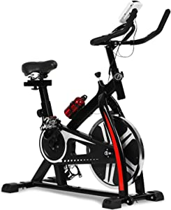 Exercise Bike Recumbent Spin Cycling Bike Indoor Cycle Stationary Workout Equipment with Pulse W/LCD Display and Adjustable Foot for Home Office