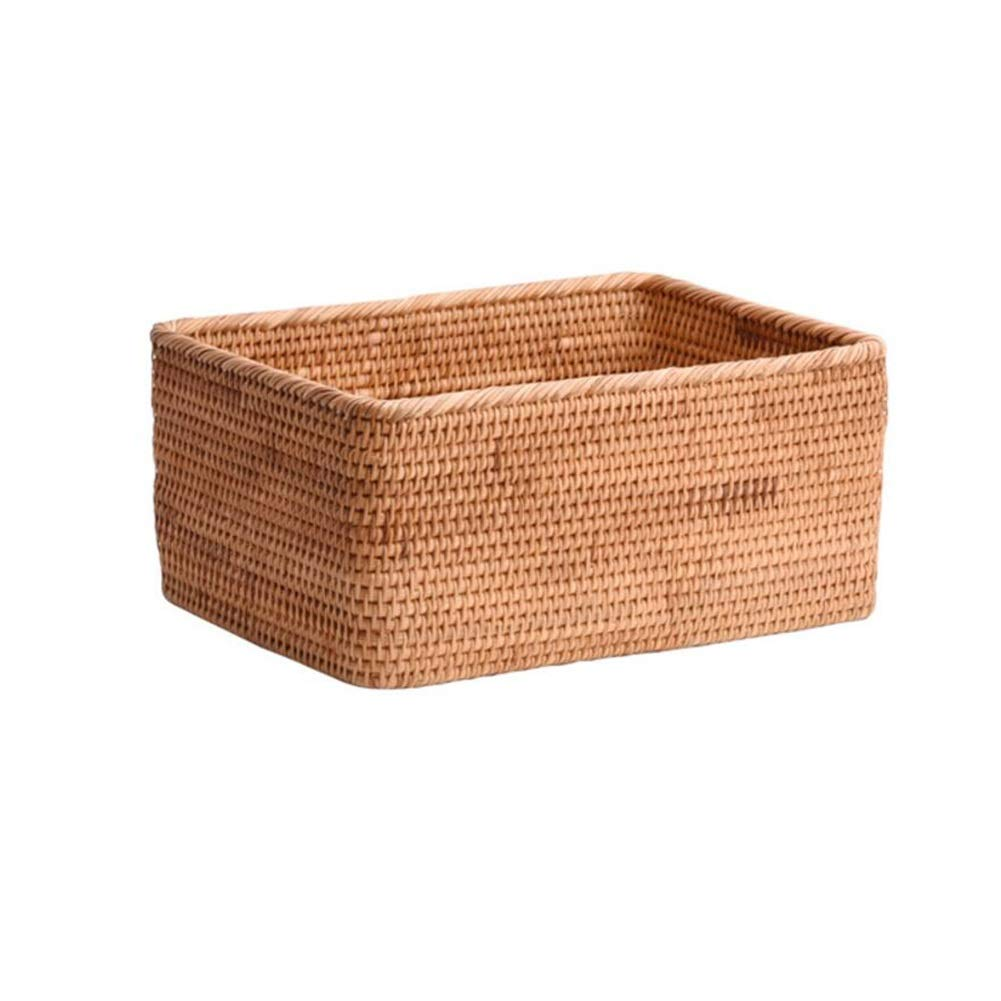 T1 30x19x10cm MUMA Storage Basket Handicraft Woven Clothes Snack Desktop Organizer Container Multiple Sizes Optional (color   T1, Size   28x18x14cm)