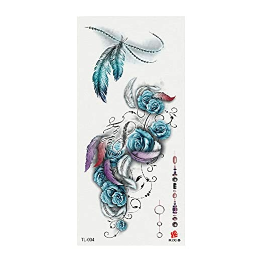 Arte del rasguño 3d flor tatuaje pegatinas moda pequeña pareja ...