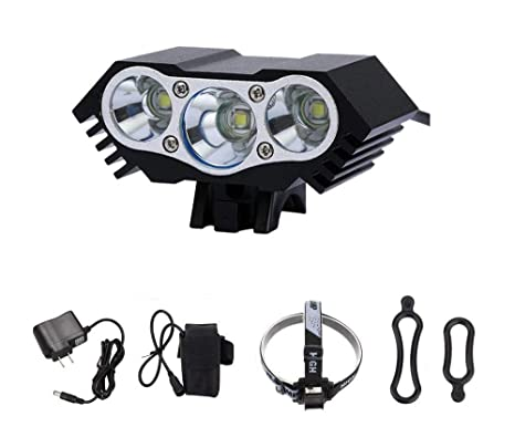 Rechargeable 10000lm 3X XM-L T6 LED Front Bicycle