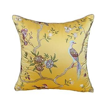 Amazon.com: Cushion Pillow Waist Pillow Case Golden Yellow ...