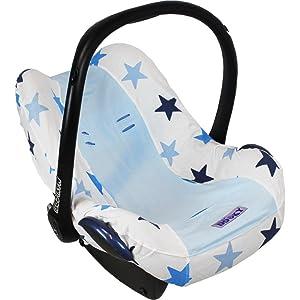 Dooky bebé asiento de coche cubierta de repuesto para 0 + azul estrellas