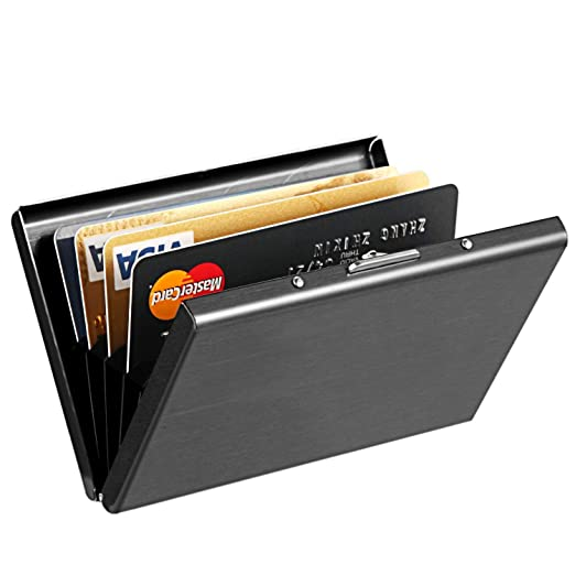 a0f9dffc87e Credit Card Holder Protector MaxGear Stainless Steel Credit Card Wallet  Slim RFID Metal Credit Card Case