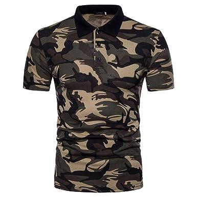 Camisa De Polo para Hombre De Manga De Corta Camisa Camuflaje Slim ...