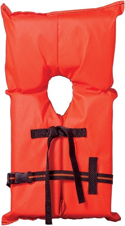 Type II Orange Life Jacket Vest PFD Adult Universal US Coast Guard Approved
