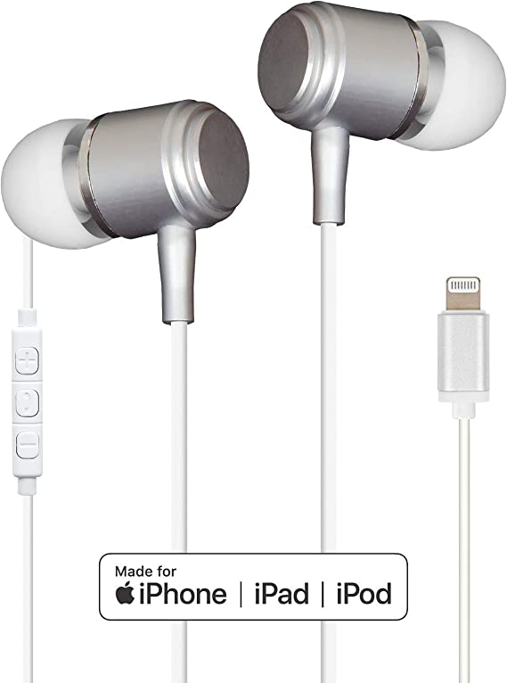 Amazon Com High Fidelity In Ear Earbuds With Microphone And Lightning Connectivity Ethaudlt Electronics