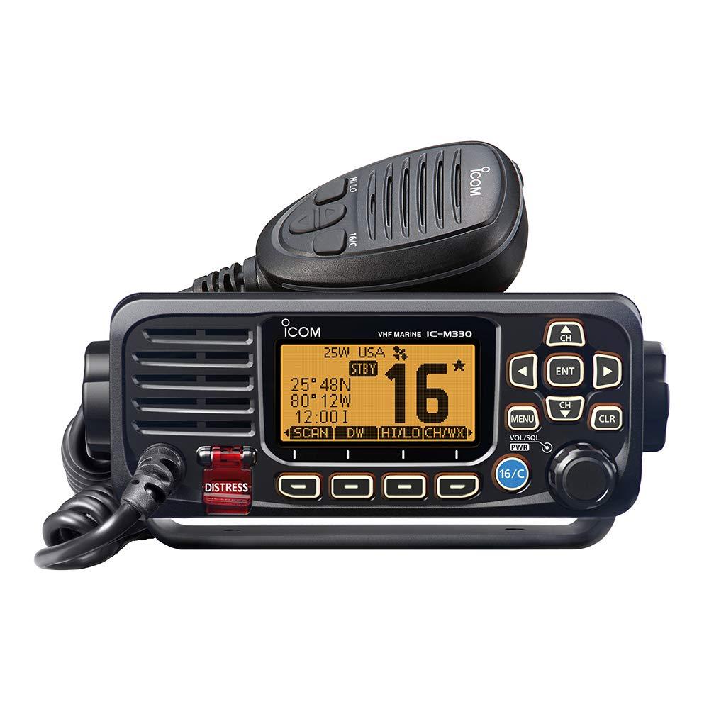 ICOM M330 11 Icom VHF, Basic, Compact, Black by Icom (Image #1)