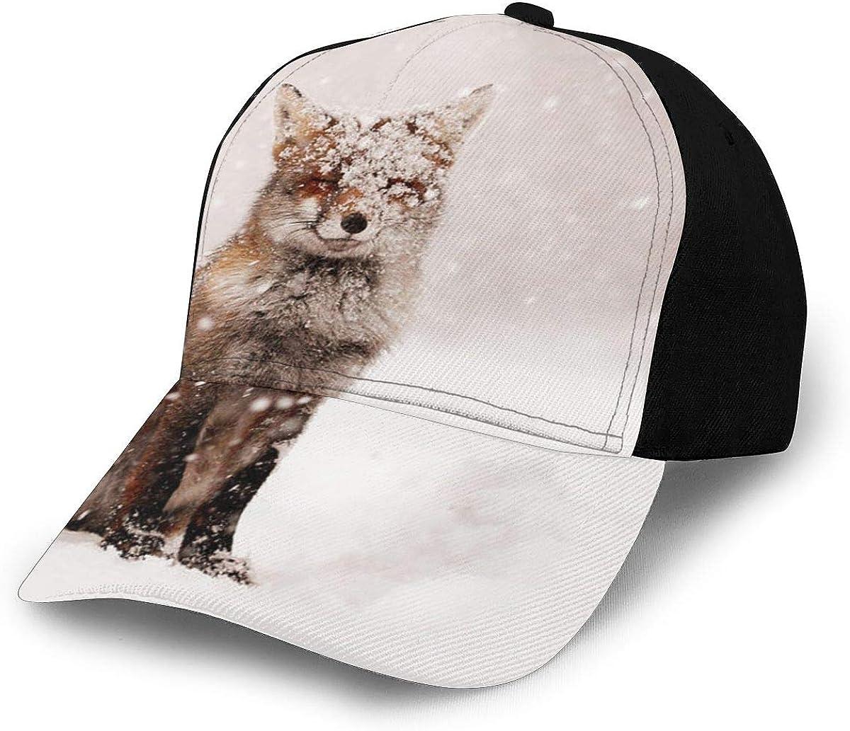 Fairytale Fox Red Fox in A Snow Storm Gorra de béisbol para ...