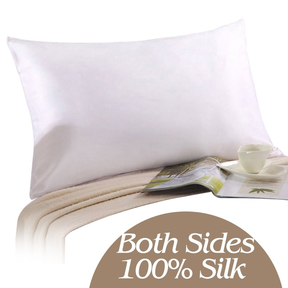 Satin Pillowcase Prevent Hair Loss: YANIBEST 100% Pure Natural Mulberry Silk Pillowcase For