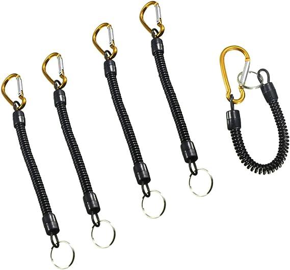 Fischen Zinger Schlüsselkette Retraktor Rollen Schlüsselring Karabiner Clip