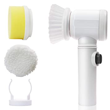 Gion 5 in 1 Power Scrubber Cleaning Brush Multipurpose Uses for Kitchen Bathroom Tub Shower Tile Carpet Bidet Sink Drain Cleaner