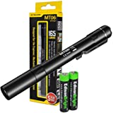 EdisonBright Nitecore MT06 165 Lumen Cree XQ-E LED Tactical pen-type Flashlight with two AAA batteries